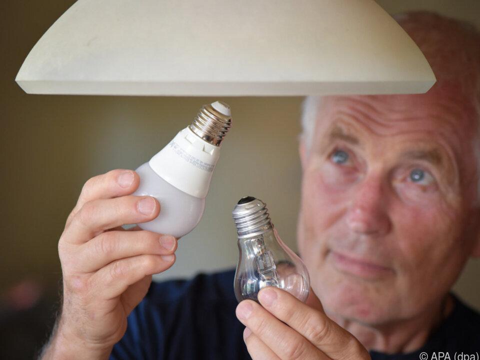 Künftig gibt es nur mehr Energiespar- und LED-Lampen glühbirne