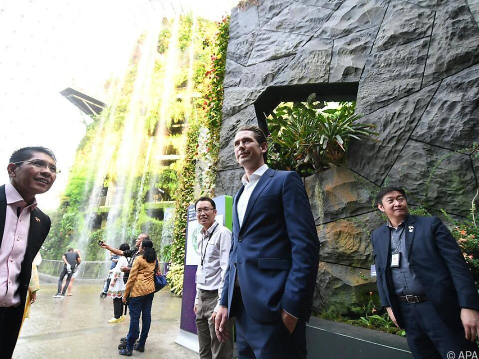 Kurz bei seinem Besuch in Singapur