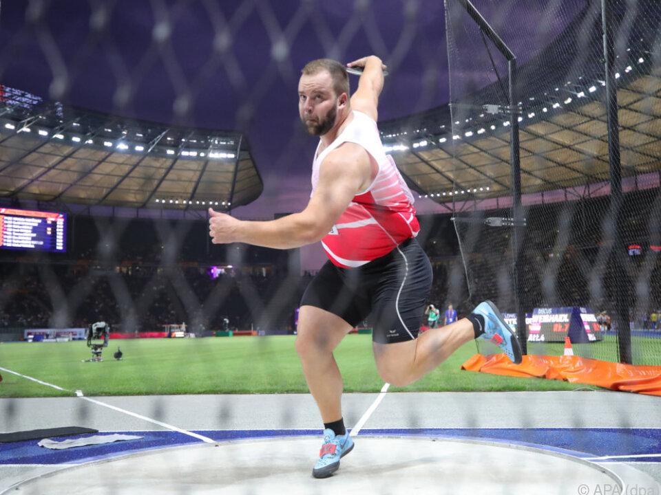 Lukas Weißhaidinger warf 65,14 m weit