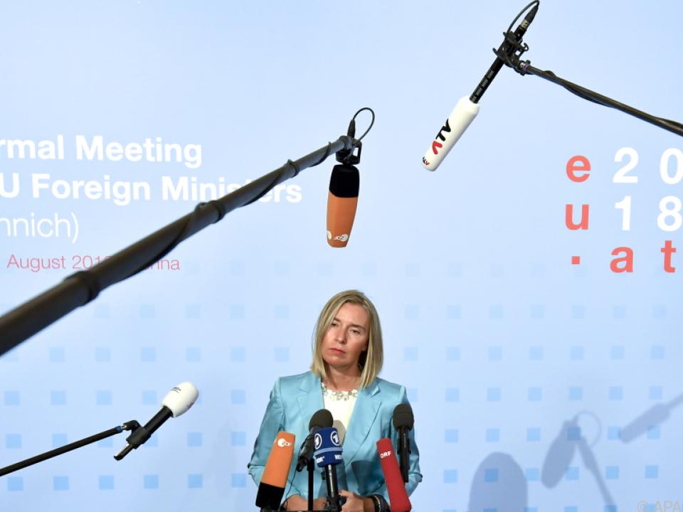 Mogherini begrüßt den Vorschlag Österreichs