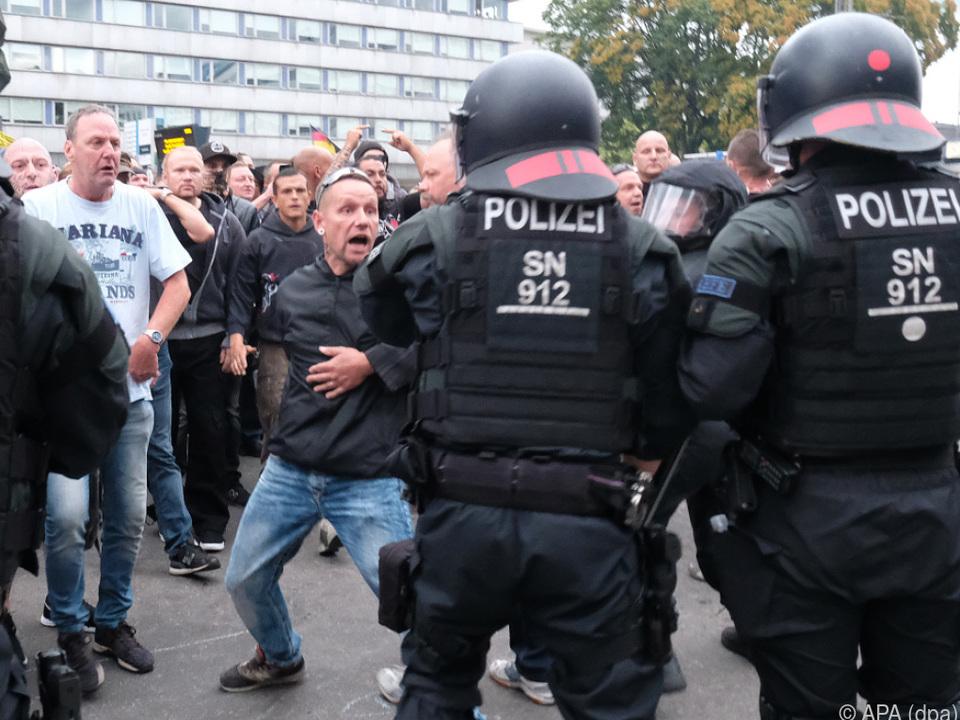 Momentan ist die Lage in Chemnitz relativ unter Kontrolle