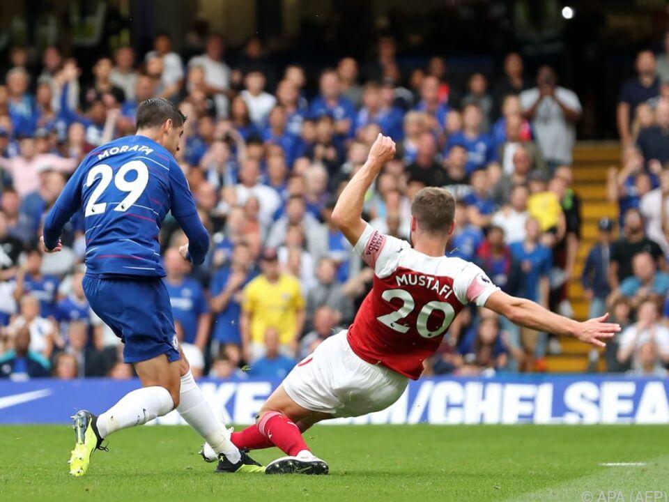 Morata erzielt das 2:0 für Chelsea in der 20. Minute