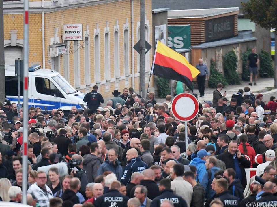 Nach der Messerstecherei hatte es in Chemnitz heftige Proteste gegeben