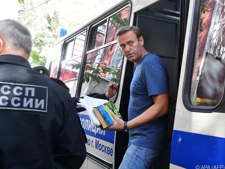 Nawalny kann nicht an bevorstehenden Protesten teilnehmen