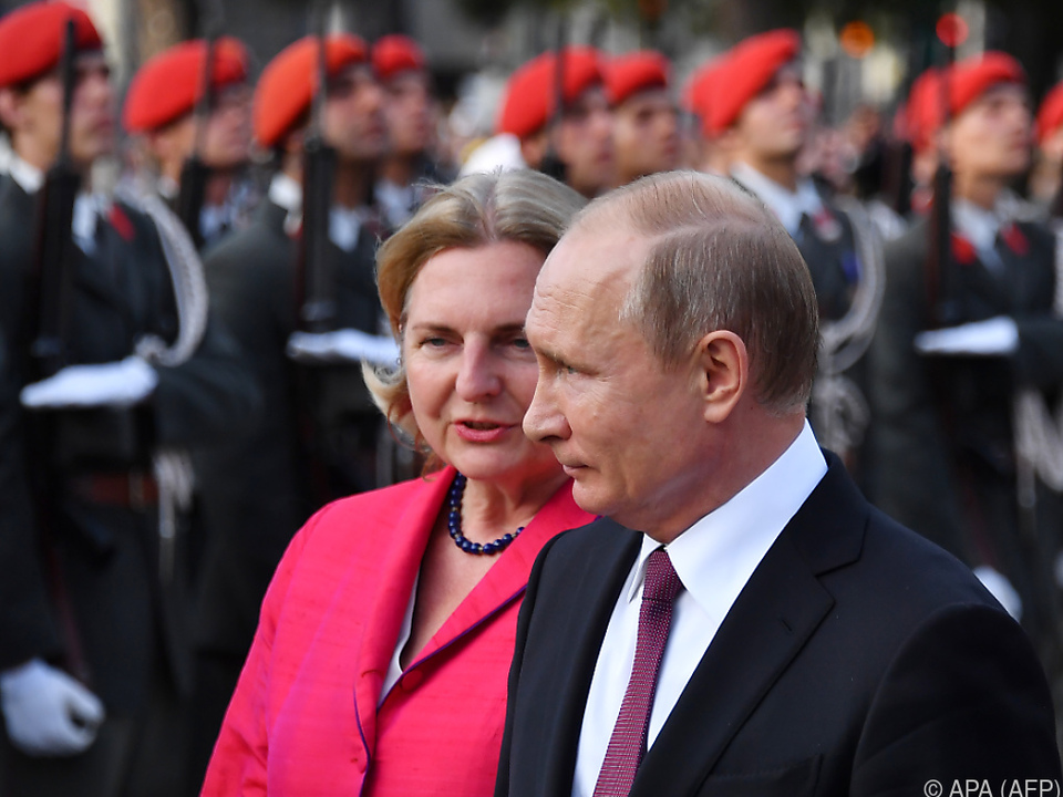 Österreichs Umgang mit Putin wird von der Ukraine nicht goutiert