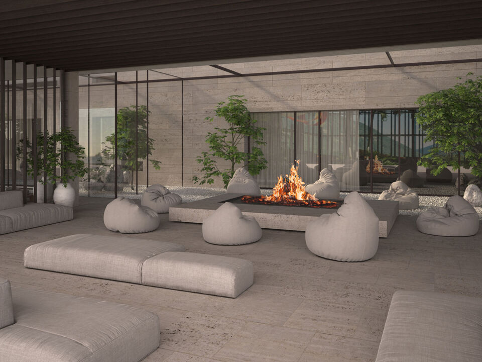 Rendering fire lounge