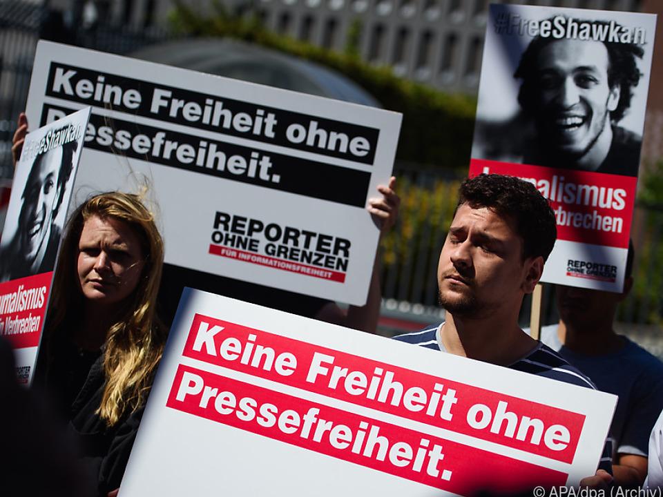 Reporter ohne Grenzen prangerte die Einschüchterungen an
