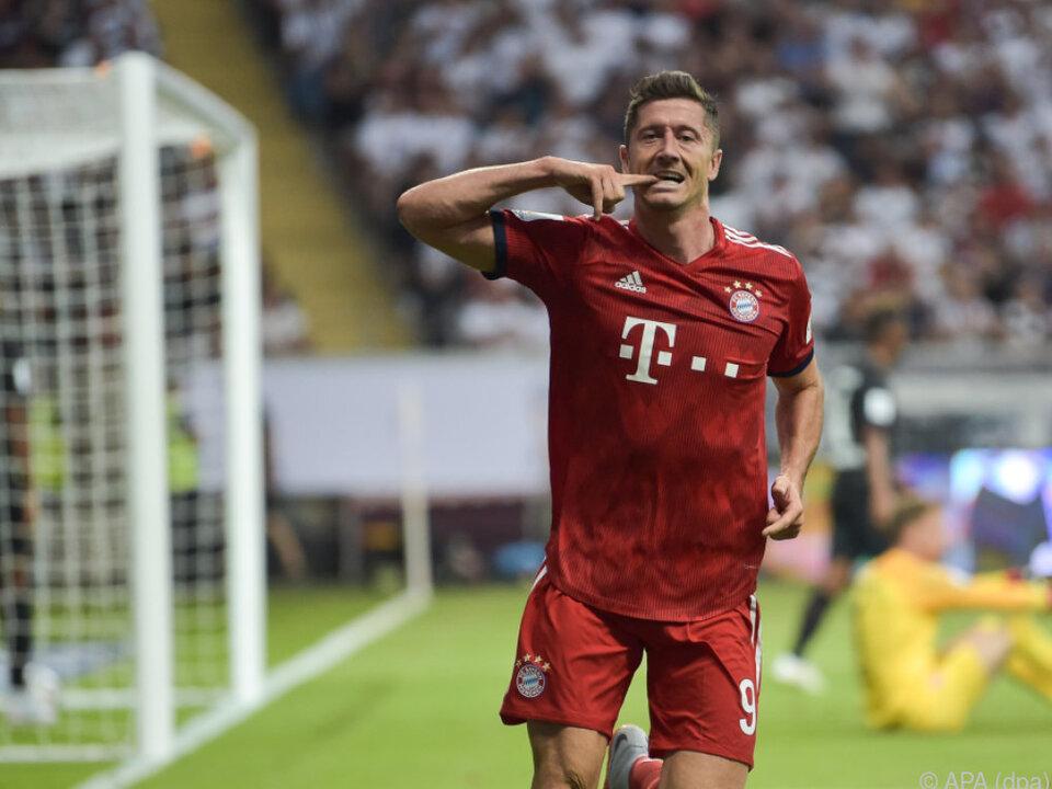 Robert Lewandowski erzielte drei Treffer der Münchner