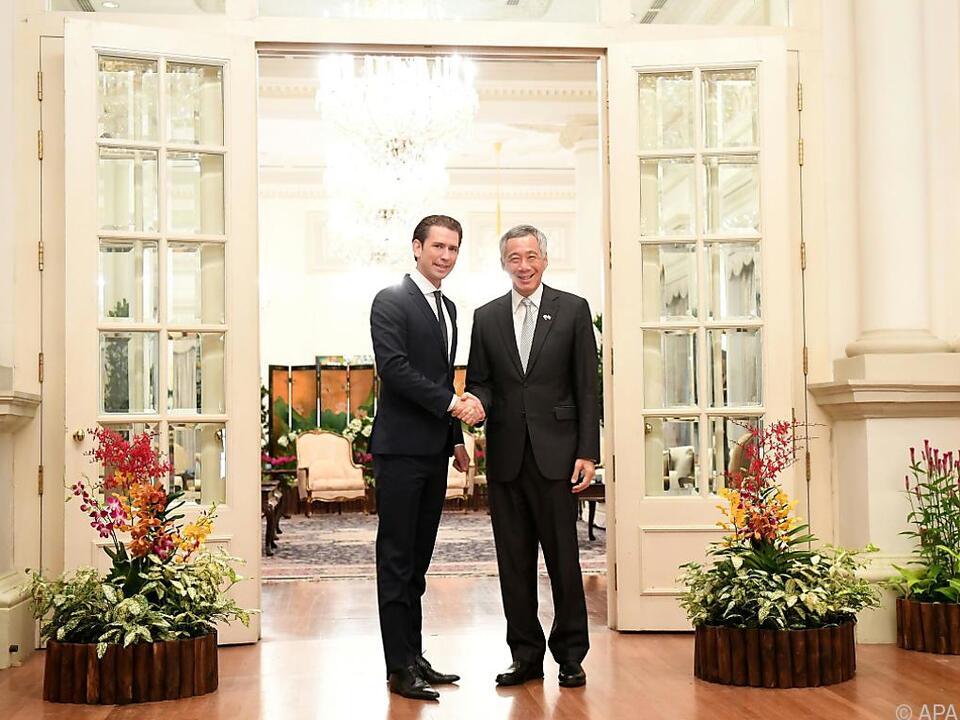 Singapur betonte die guten Beziehungen zu Österreich