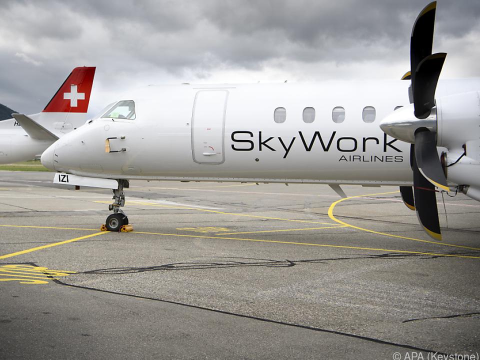 SkyWork-Flugzeuge flogen zahlreiche Destinationen in Europa an