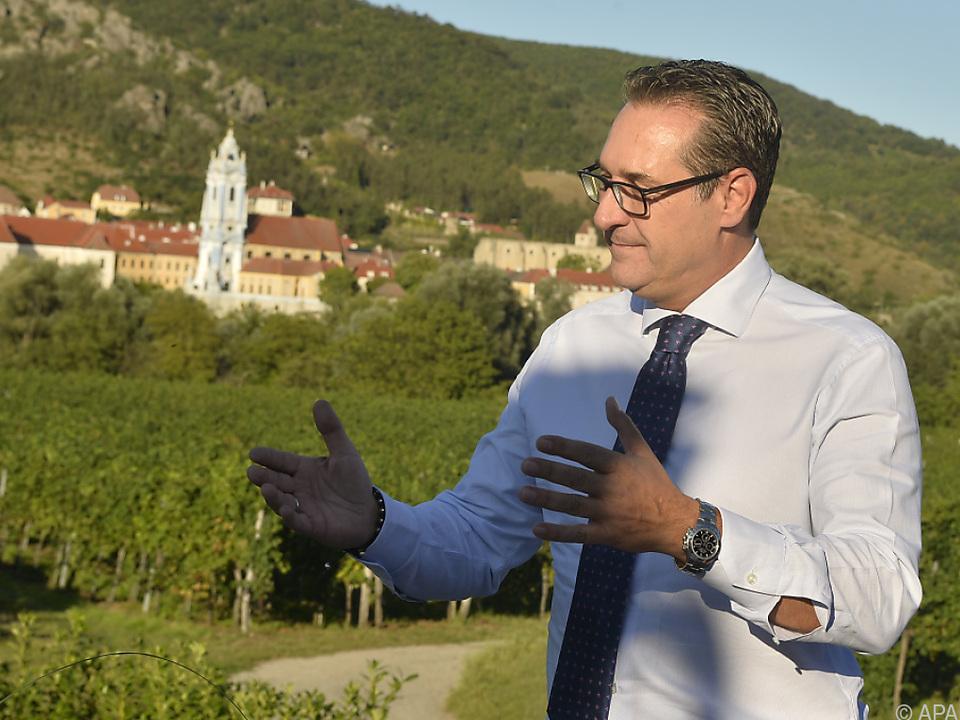 Strache gab sich staatsmännischer als bei seinen bisherigen Auftritten