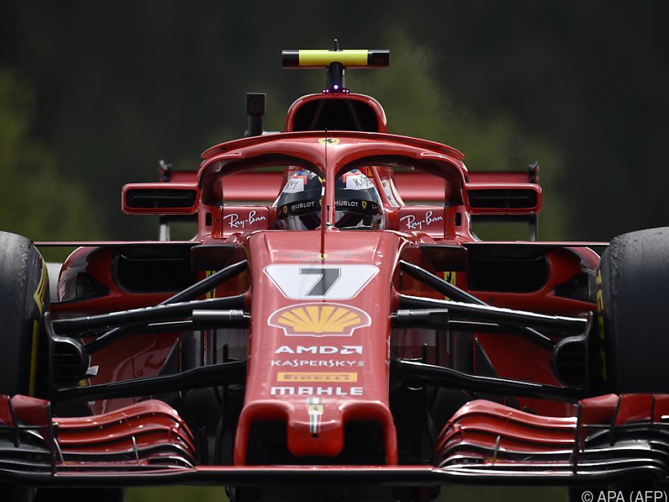Tagesbestzeit für Kimi Räikkönen