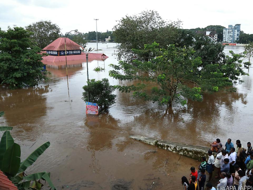 Überflutetes Gebiet in Indien