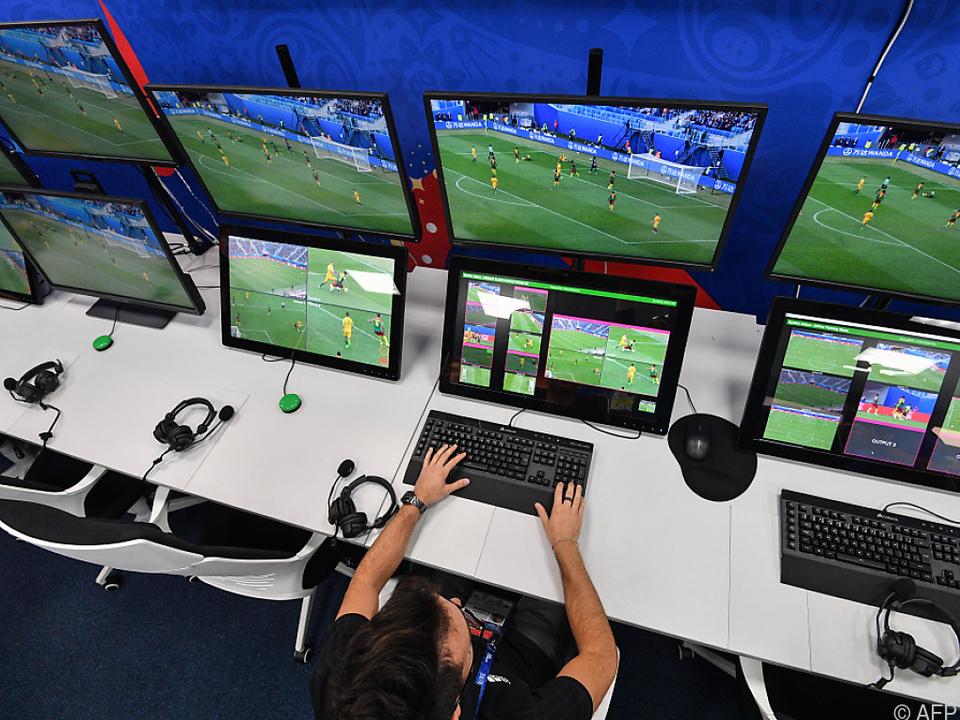 Video-Referees waren bereits bei der Fußball-WM in Russland im Einsatz