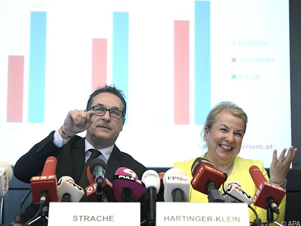 Vizekanzler Strache und Ministerin Hartinger-Klein