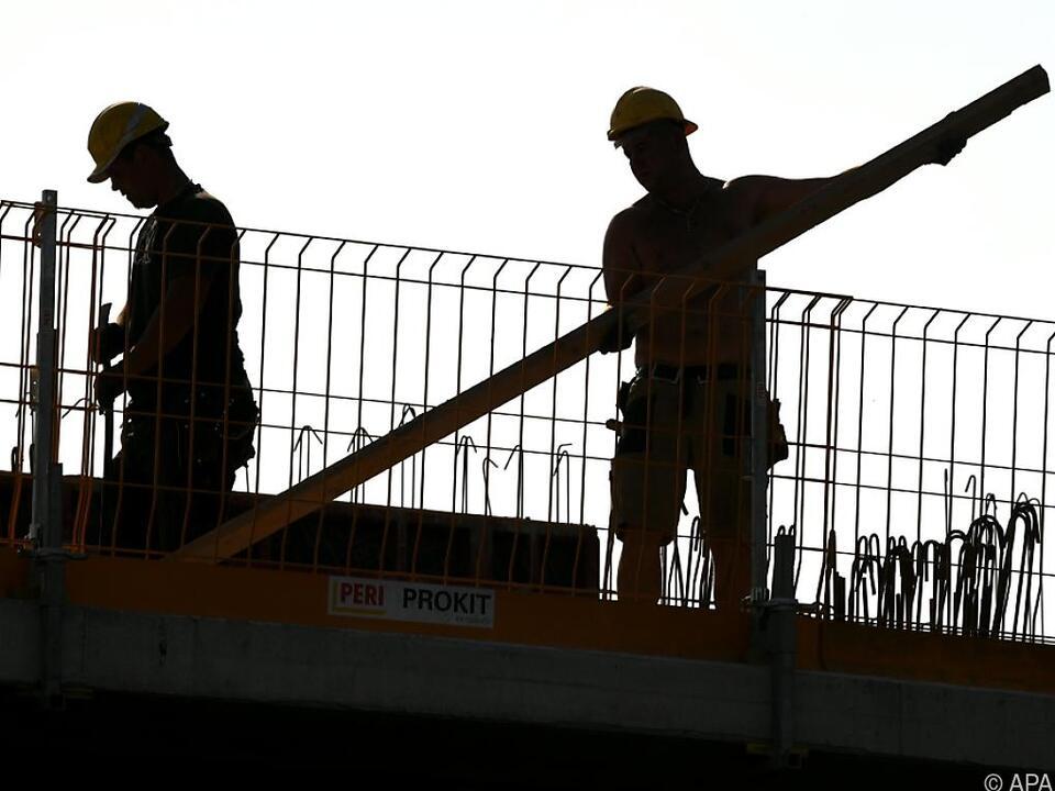 Vor allem Wiener Baufirmen sind oft in Verzug baustelle arbeit