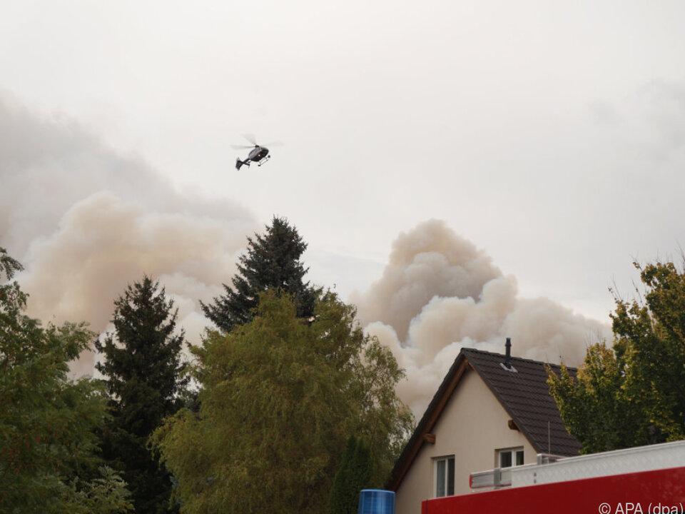 Waldbrand tobt in Südbrandenburg