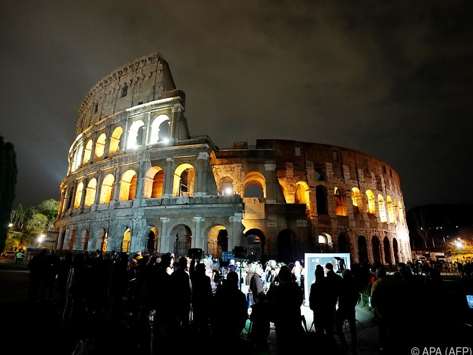 Zuletzt machte auch das Kolosseum bei der Aktion mit rom sy