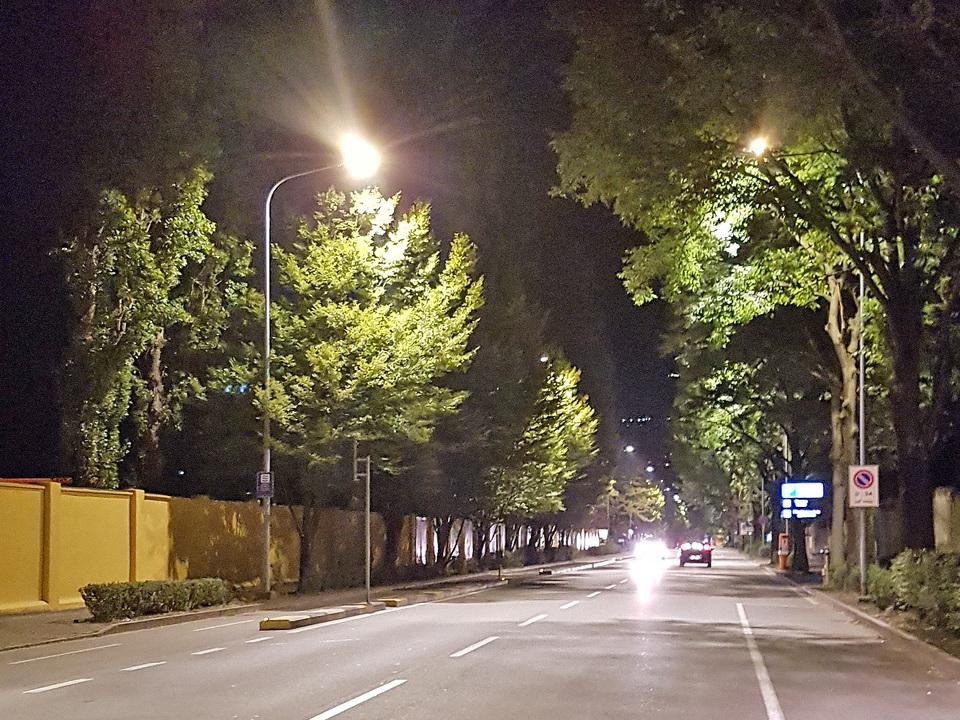 Gampenstraße Meran Nacht
