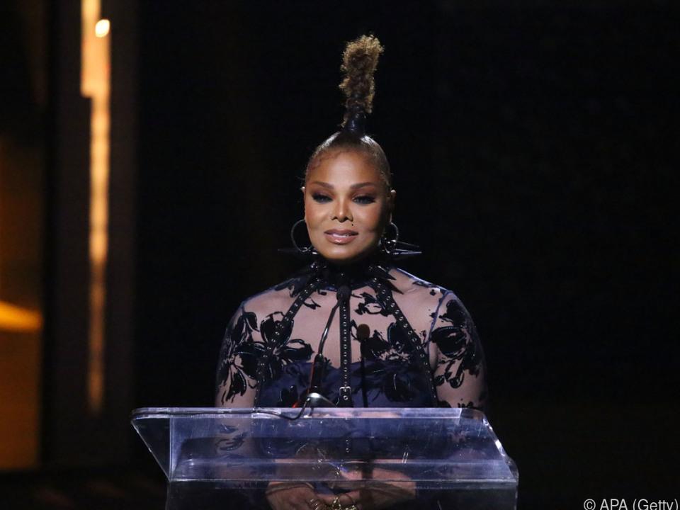 Auch Janet Jackson hatte einen Aufritt