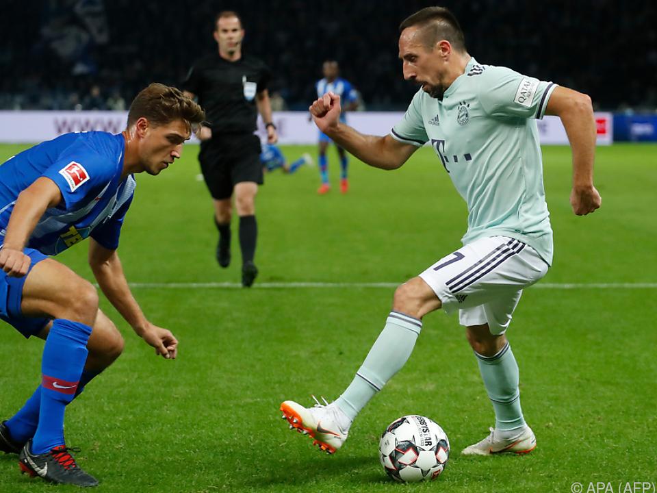 Auch Ribery konnte die Niederlage nicht verhindern
