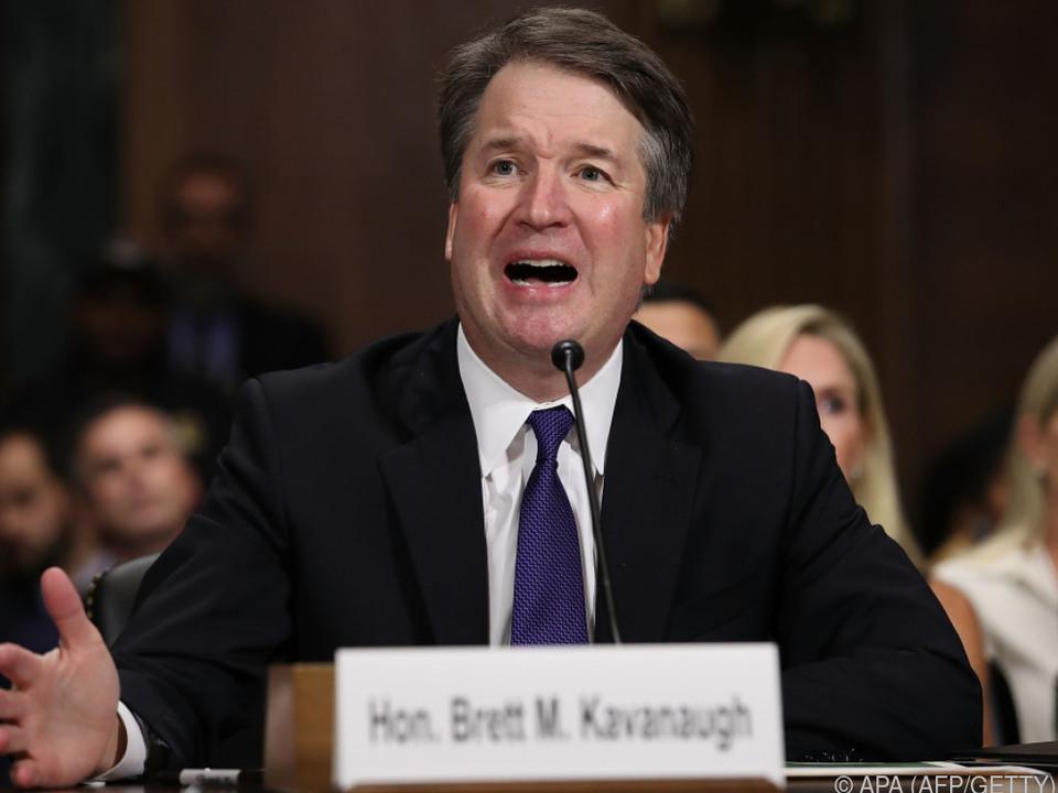 Brett Kavanaugh wehrte sich heftig gegen die Vorwürfe