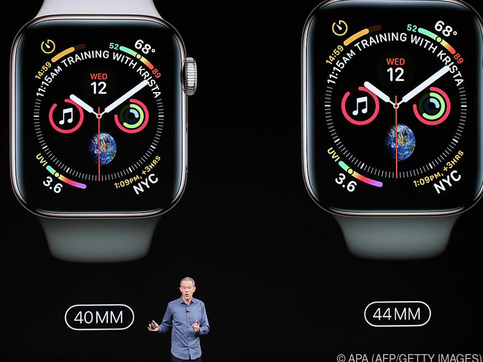 Das Display der Smartwatch wurde deutlich größer