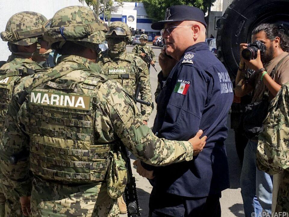 Das mexikanische Militär greift hart durch