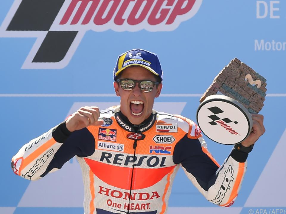 Das MotoGP-Rennen in Aragonien gewann Superstar Marc Marquez