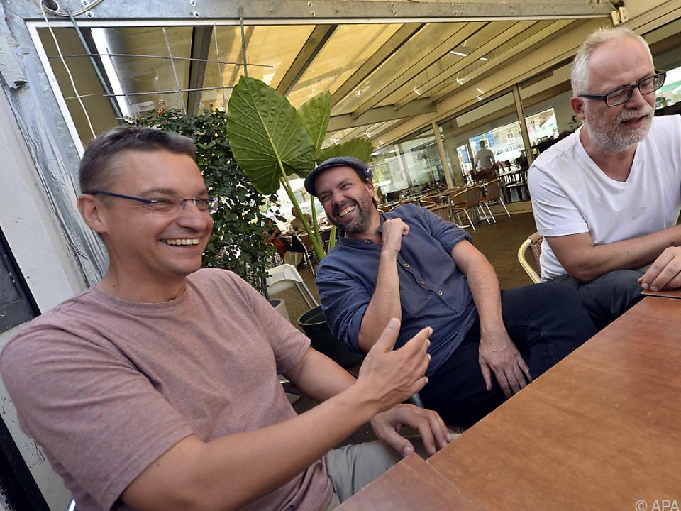 Das Trio im Gespräch mit der APA