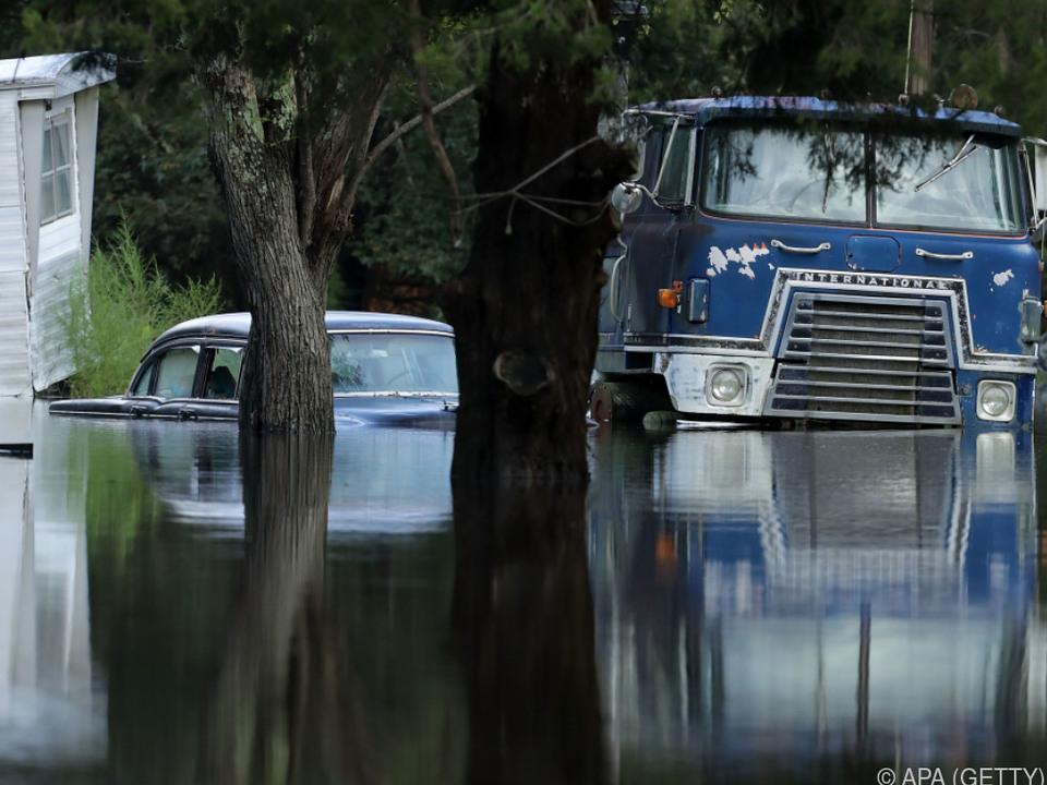 Der Hurrikan brachte enorme Wassermassen mit sich