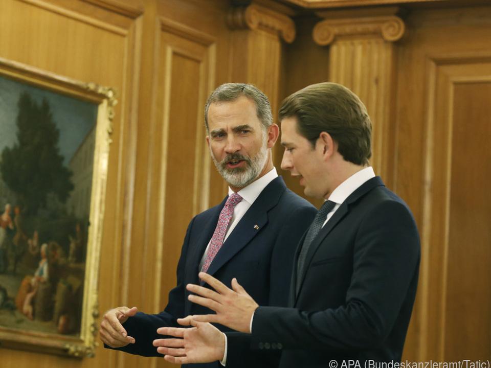 Der Kanzler traf auch König Felipe