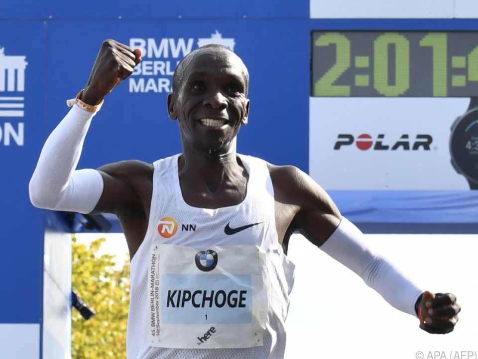 Der Kenianer Kipchoge lief nur 2:01:39 Minuten