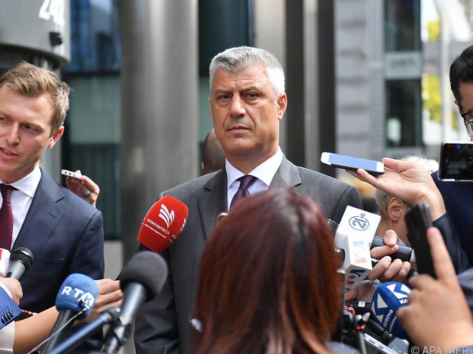Der kosovarische Präsident Hashim Thaci