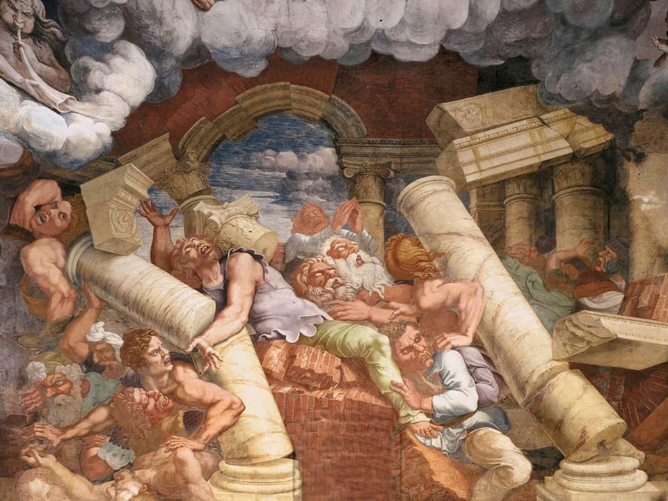 Detail aus Sturz der Titanen, Giulio Romano