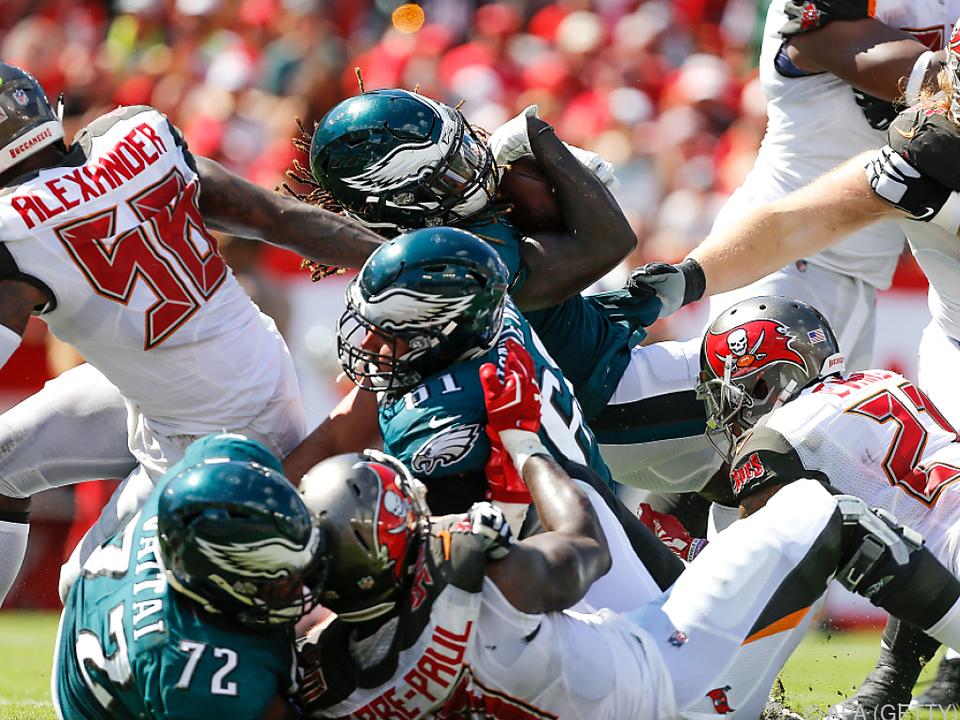 Die Eagles wurden in Tampa Bay gerupft