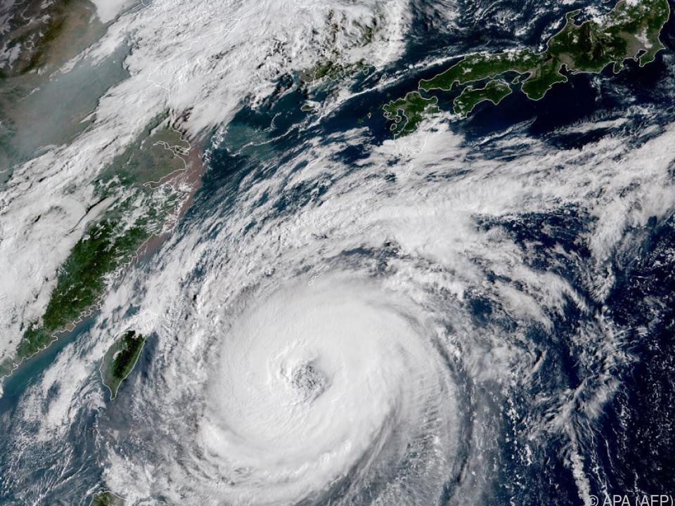 Die Insel Okinawa im Süden Japans ist stark betroffen