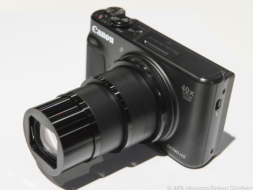 Die kompakte Canon Powershot SX740 HS ist nur vier Zentimeter dünn