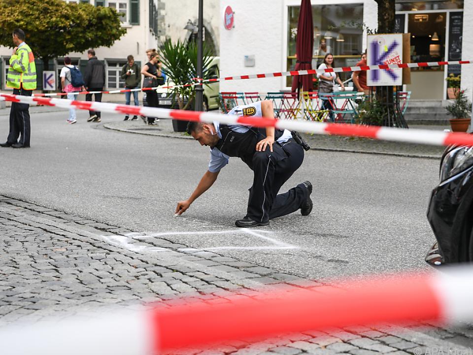 Die Polizei sperrte den Tatort ab