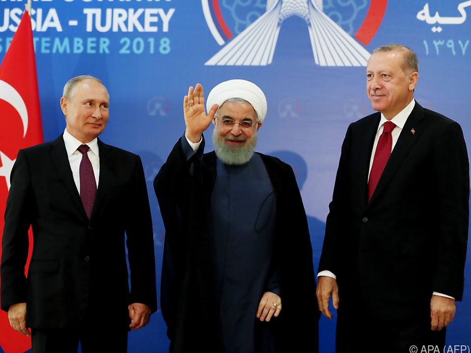 Die Präsidenten Russlands, des Irans und der Türkei beraten in Teheran
