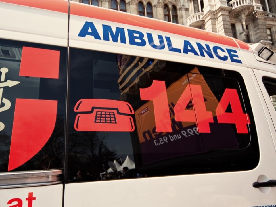 Die Rettung brachte die Mädchen ins Krankenhaus