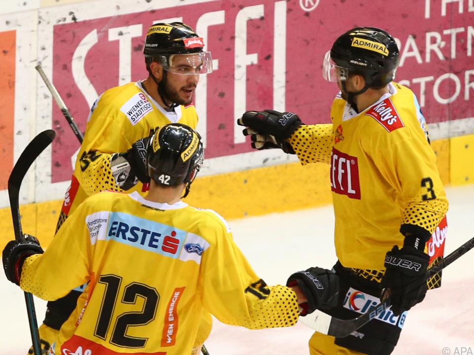 Die Wiener feierten den dritten Sieg im dritten Spiel