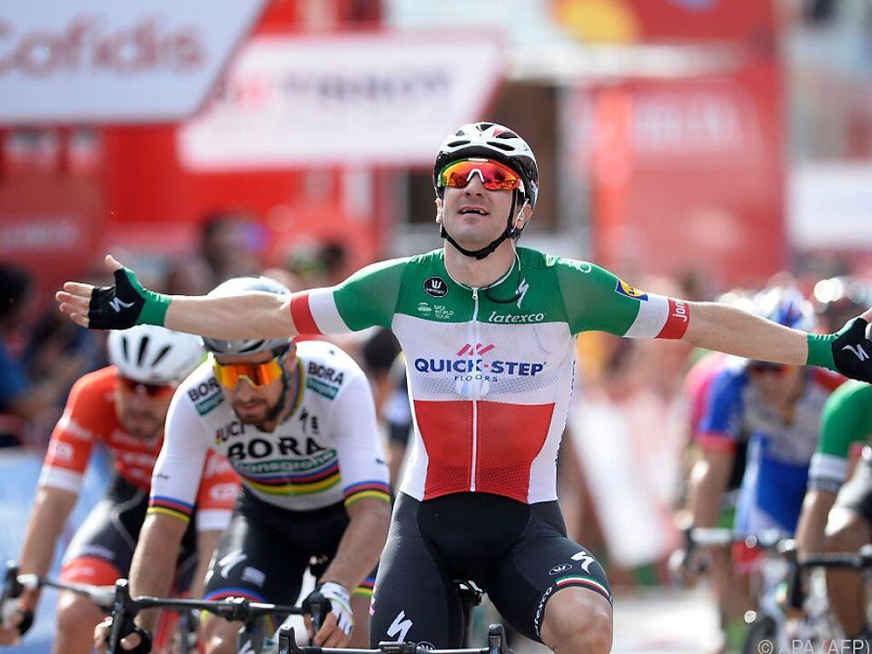 Elia Viviani gewann die 177 Kilometer Tagesetappe
