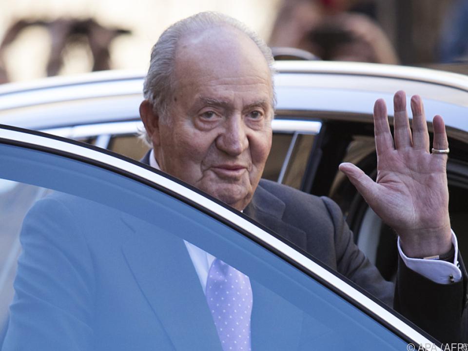 Ex-König Juan Carlos wurde u.a. der Korruption beschuldigt