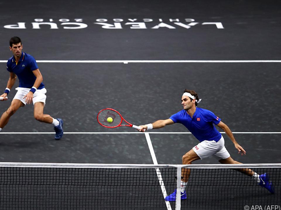 Federer/Djokovic unterlagen dem Duo Anderson/Sock