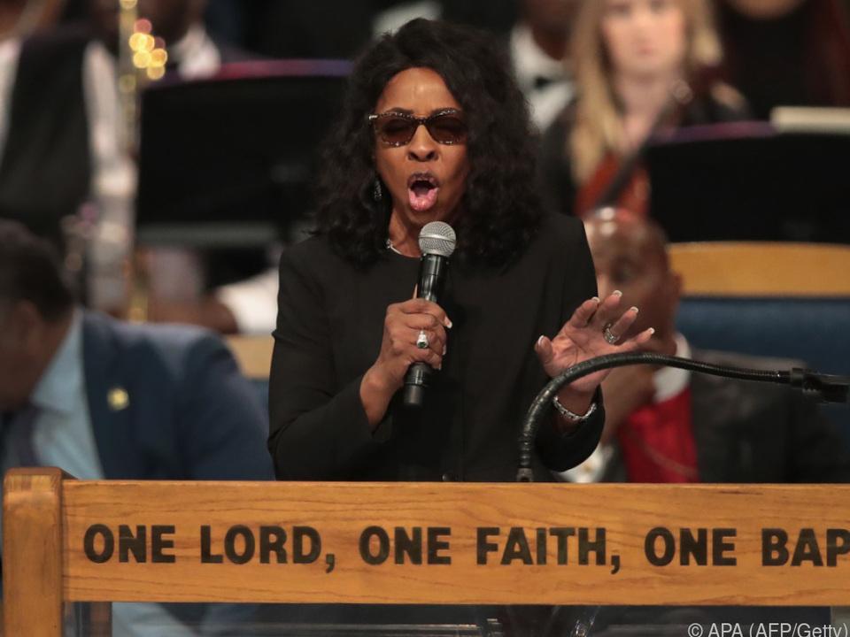 Gladys Knight sang bereits bei der Trauerfeier für Franklin