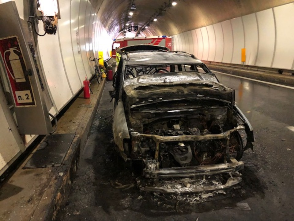 Brand Pkw Tunnel A22