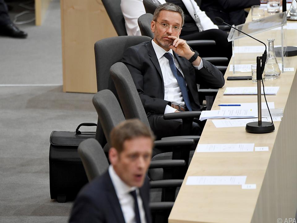 Innenminister Kickl gab sich unbeeindruckt