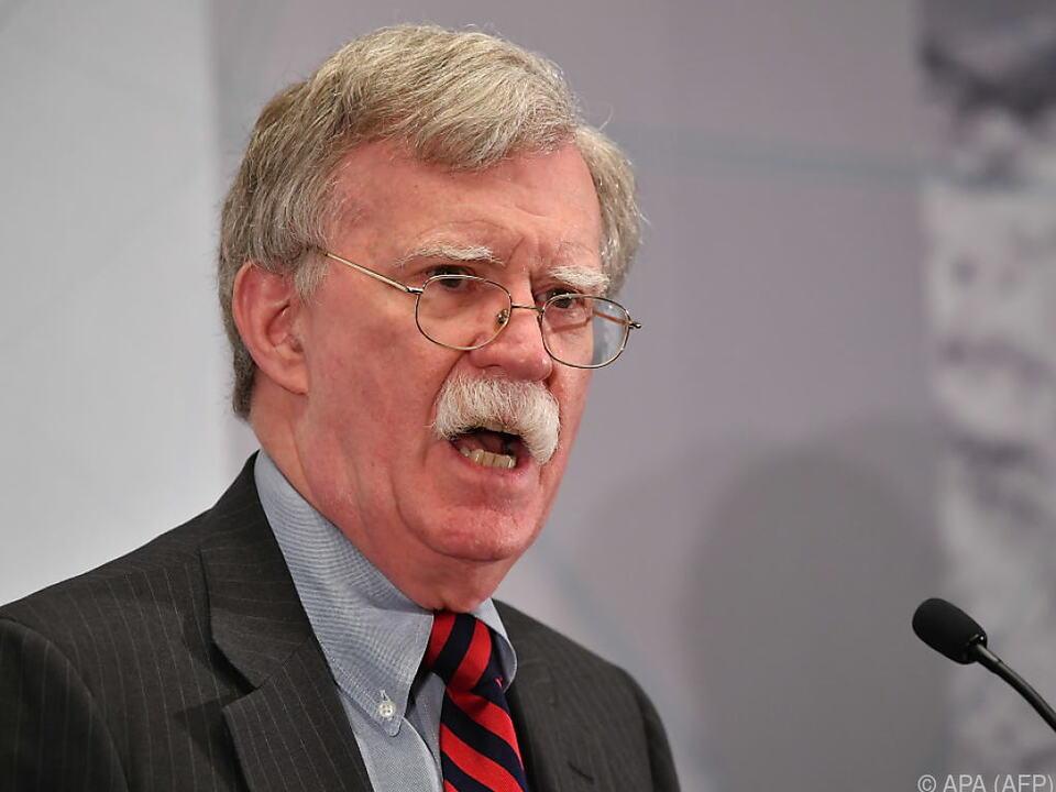John Bolton wettert gegen Iran und EU