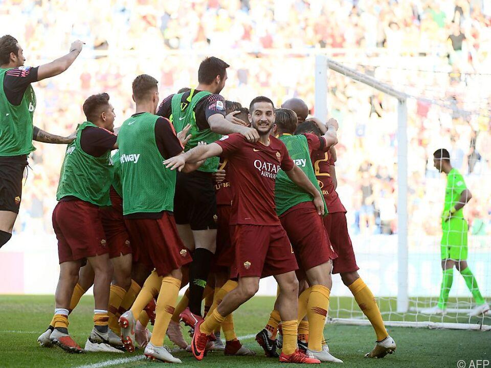 Jubel bei den Spielern der Roma